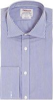 T.M.Lewin Men's Bengal stripe poplin regular fit shirt