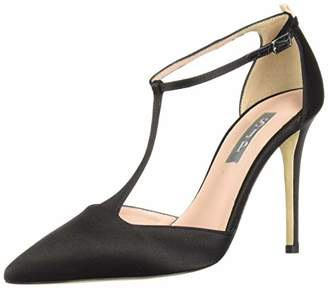 Sarah Jessica Parker Women's Taylor Closed Toe T-Strap Pump 40.5 B EU (10 US)
