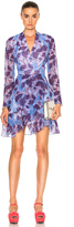 Carven Floral Long Sleeve Dress
