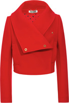 Kenzo Wool-Blend Cropped Jacket with Oversize Collar
