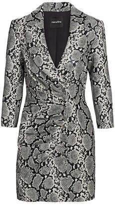 retrofete Willa Snake Print Leather Dress