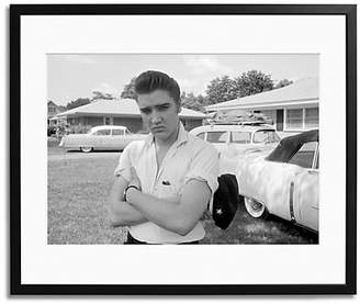 Sonic Editions Elvis Presley with his Cadillacs Framed Photo