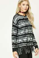 Forever 21 Faux Mohair Fringed Sweater