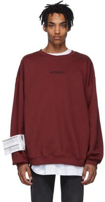 Vetements Red Logo Sweatshirt
