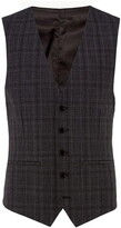 Kenneth Cole Bruckner Checked Slim Fit Suit Waistcoat