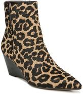 Franco Sarto Athens Leopard Print Calf Hair Wedge Bootie