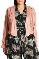 City Chic Plus Size Women's Lace Crop Jacket