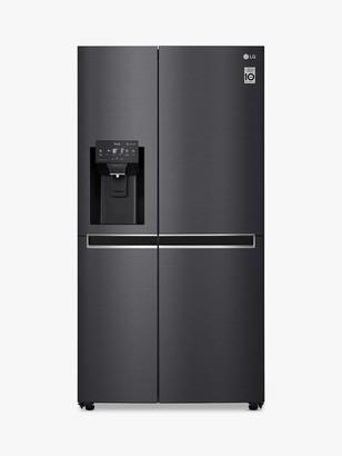 LG Electronics GSL761MCKV American-Style Freestanding 60/40 Fridge Freezer, 92cm Wide, Matte Black