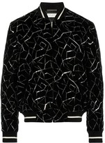 Saint Laurent embroidered velvet bomber jacket