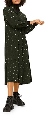 Whistles Abstract Dot Print Trapeze Midi Dress