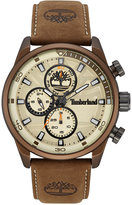 Timberland Men's Henniker 2 Brown Leather Strap Watch 46x53mm TBL14816JLBN07