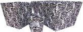 Trend Lab 3 Piece Zebra Striped Fabric Bin Set