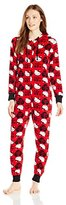 Hello Kitty Women's Hooded One-Piece Pajama Coverall