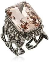 Sorrelli Satin Blush Emerald Cut Band Adjustable Ring