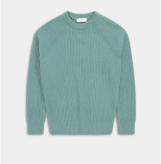 Closed Celadon Green Wool Raglan Collar Jumper - L | green - Green/Green