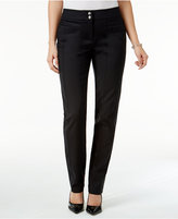 Style&Co. Style & Co. Seam-Detail Slim-Leg Pants, Only at Macy's
