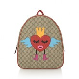 Gucci GUCCIGirls GG Supreme Heart Backpack