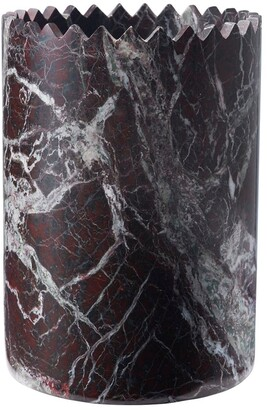 Editions Milano Triangoli Vase Red Levanto Marble Cup