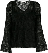 See by Chloe lace V-neck blouse - women - Polyester - 38