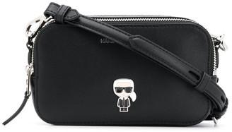 Karl Lagerfeld Paris K/Ikonik logo pin crossbody bag