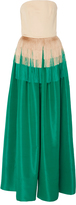 Martin Grant Color Block Fringed Gown