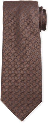 Brioni Scroll Jacquard Silk Tie