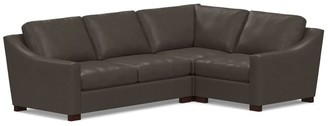 Pottery Barn Turner Slope Arm Leather 3-Piece Sectional