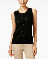 Charter Club Cashmere Sequined Shell, Only at Macy's