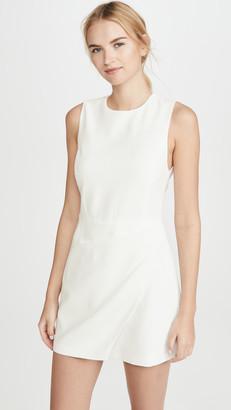 Alice + Olivia Kelsey Asymmetric Drape Dress