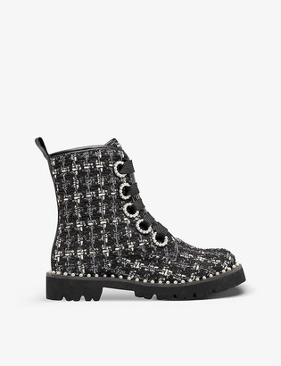 Dune Purla checked ankle boots