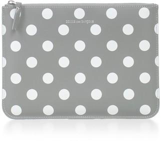 Comme des Garcons Wallet Large Dots Printed Leather Line