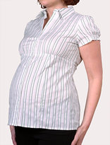 Short Sleeve Smock Sleeve Maternity Shirt