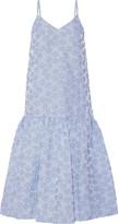Co Striped Cloqué Midi Dress - Light blue