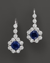 Bloomingdale's Sapphire and Diamond Drop Earrings in 14K White Gold