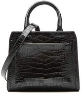 Victoria Beckham Snake-Embossed Patent Leather Shoulder Bag