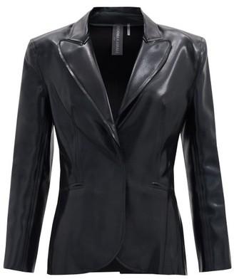Norma Kamali Single-breasted Faux-leather Jacket - Black
