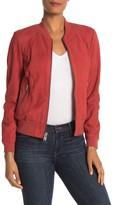 Andrew Marc Leather Long Sleeve Jacket