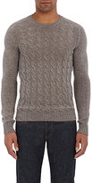 Zanone MEN'S CABLE-KNIT SWEATER-GREY SIZE XXL