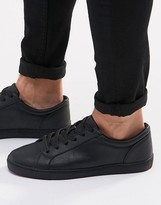 Asos Lace Up Trainers In Black