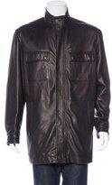 Zegna Sport Leather Zip Jacket