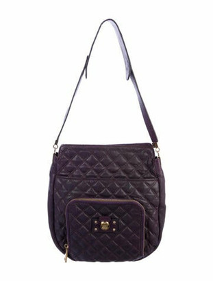 Marc Jacobs Quilted Leather Hobo Purple