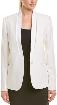 Stella McCartney Single-Button Silk-Lined Wool Blazer