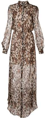 Rachel Zoe sheer leopard-print dress