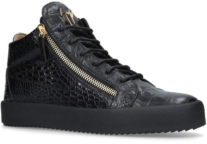 Giuseppe Zanotti Croc Embossed Sneakers