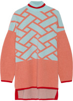 Issa Josephine intarsia wool and cashmere-blend sweater