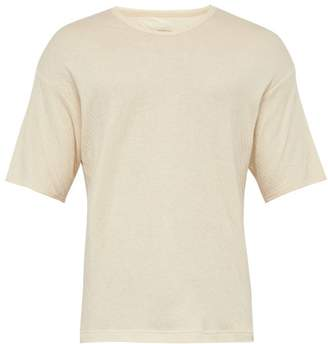Snow Peak Crew-neck Organic-cotton T-shirt - Mens - Cream