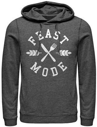 Fifth Sun Sweatshirts and Hoodies CHAR - Charcoal Heather 'Feast Mode' Kangaroo-Pocket Hoodie - Adult