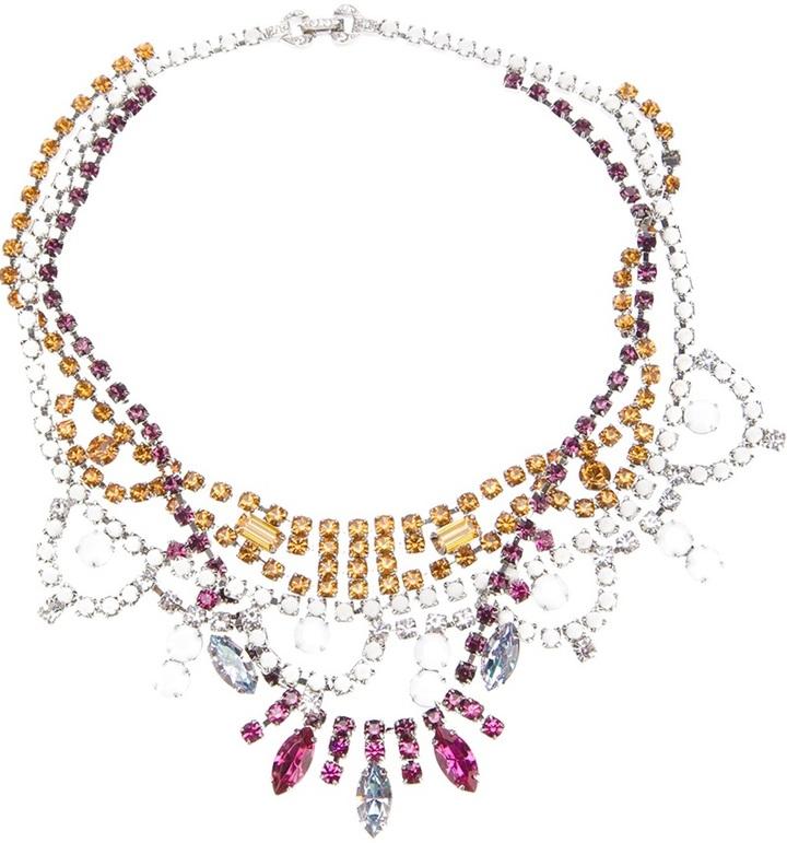 Tom Binns crystal tangled necklace