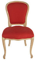 Red Upholstered Louis XV Chair