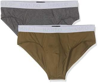 Hanro Men's Cotton Essentials Slips 2pack Boxer Briefs,(Pack of 2)